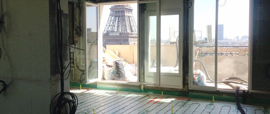 Pose d'une chape légère à Paris